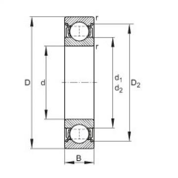 FAG Rillenkugellager - 6320-2Z