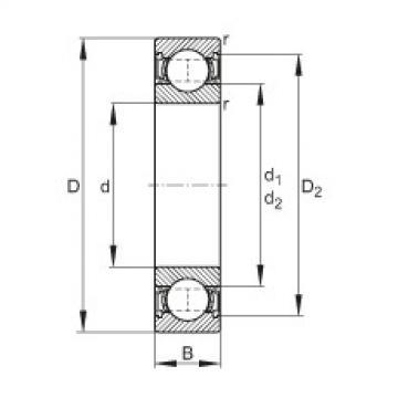 FAG الأخدود العميق الكرات - 6021-2RSR