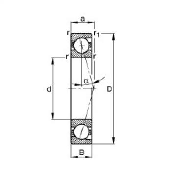 FAG محامل المغزل - B7244-C-T-P4S