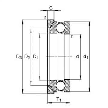 FAG محوري الأخدود العميق الكرات - 53209 + U209