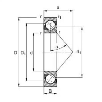 FAG الزاوي الاتصال الكرات - 7230-B-XL-MP