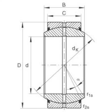FAG Radial spherical plain bearings - GE140-DO-2RS