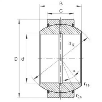 FAG Radial spherical plain bearings - GE240-FO-2RS