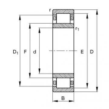 المحامل NU1022-M1 FAG
