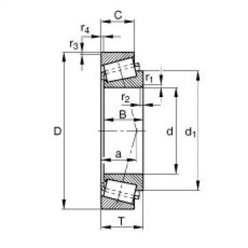 FAG تناقص الأسطوانة المحامل - T4DB160