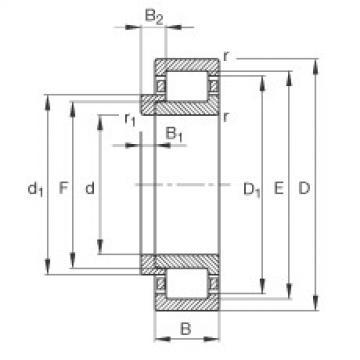 FAG محامل أسطوانية - NJ409-XL-M1 + HJ409