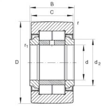 FAG نير نوع بكرات المسار - NUTR50