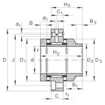 FAG Nadel-Axial-Zylinderrollenlager - ZARF50115-L-TV