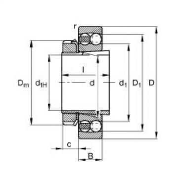 FAG Pendelkugellager - 2222-K-M-C3 + H322