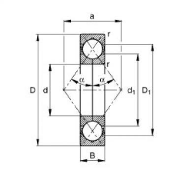 FAG أربعة محامل الاتصال نقطة - QJ309-XL-TVP