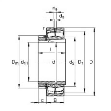 FAG Pendelrollenlager - 22222-E1-XL-K + H322