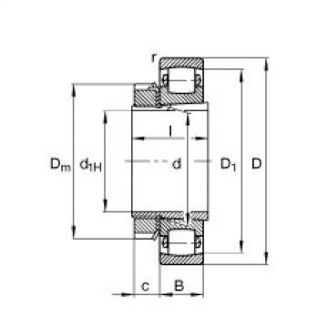 FAG Tonnenlager - 20222-K-MB-C3 + H222