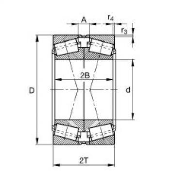 FAG Kegelrollenlager - 30220-XL-DF-A180-220