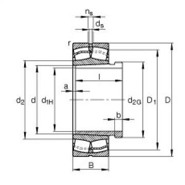 FAG محامل كروية - 22330-E1-XL-K + AHX2330G
