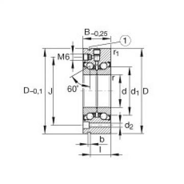 FAG محوري الزاوي الاتصال الكرات - ZKLF90190-2Z-XL