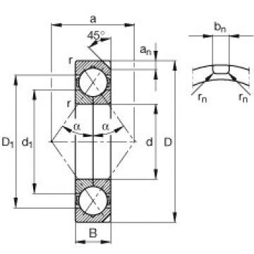 FAG أربعة محامل الاتصال نقطة - QJ232-N2-MPA