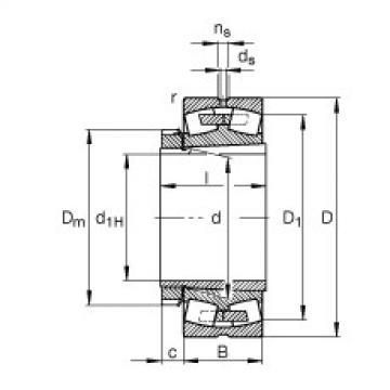 FAG Pendelrollenlager - 23222-E1A-XL-K-M + H2322