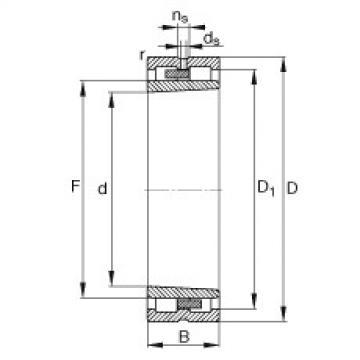 FAG محامل أسطوانية - NNU4944-S-K-M-SP