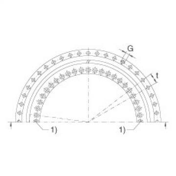 FAG محوري الزاوي الاتصال الكرات - ZKLDF120