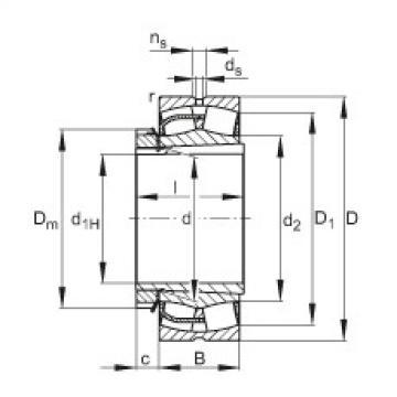 FAG محامل كروية - 23140-BE-XL-K + H3140