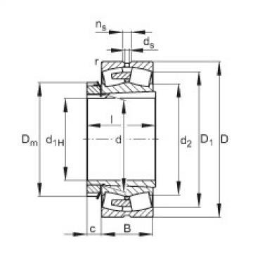 FAG محامل كروية - 23256-BEA-XL-K-MB1 + H2356X