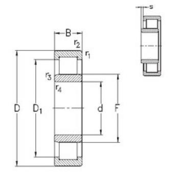 المحامل NU221-E-MPA NKE