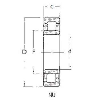 المحامل NU408 FBJ