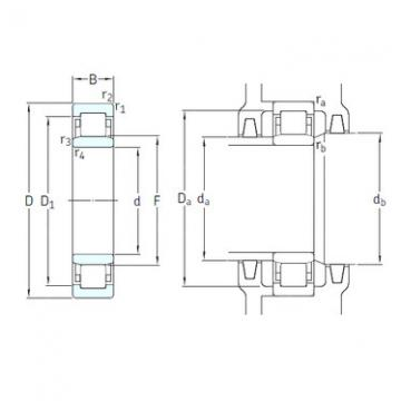 المحامل NU1011ECM/HC5C3 SKF