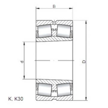 المحامل 22234 KW33 ISO
