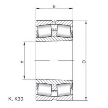 المحامل 22238 KW33 ISO
