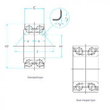 المحامل DAC45840041/39 ISO
