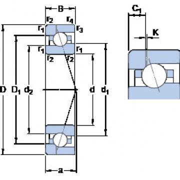 المحامل 7016 CE/P4AH1 SKF