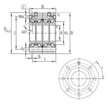 المحامل ZKLF50115-2RS-2AP INA