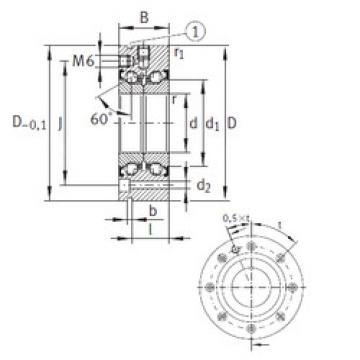 المحامل ZKLF80165-2Z INA