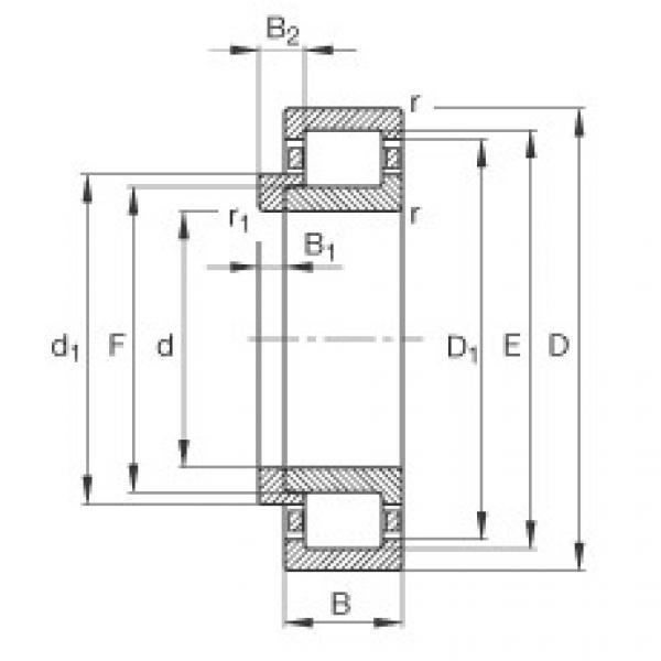 FAG محامل أسطوانية - NJ409-XL-M1 + HJ409 #1 image
