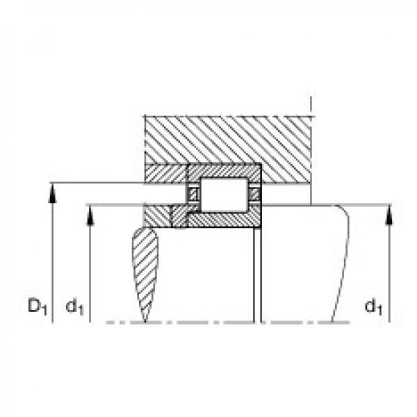 FAG محامل أسطوانية - NJ409-XL-M1 + HJ409 #2 image