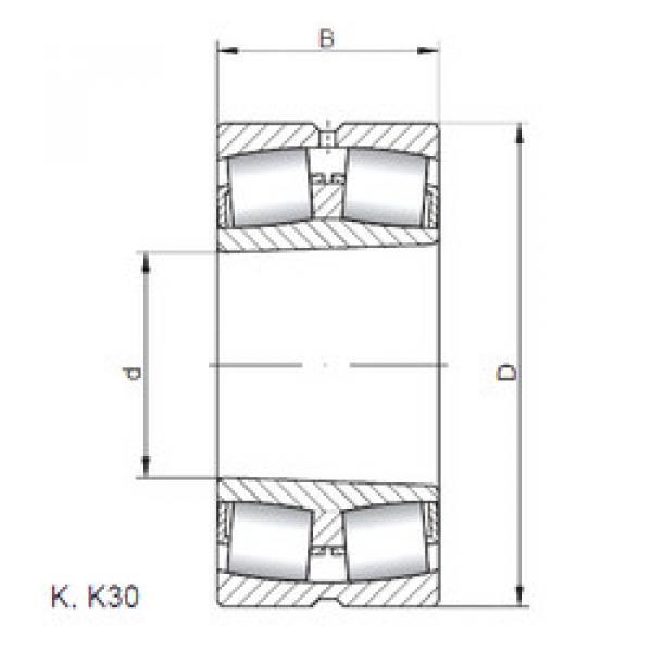 المحامل 22238 KW33 ISO #1 image