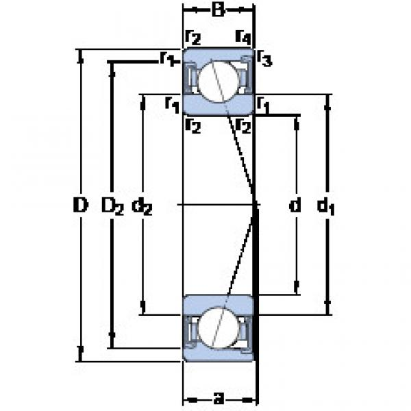 المحامل S71901 CD/P4A SKF #1 image