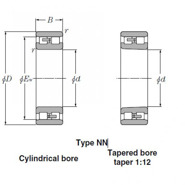 Bearings Cylindrical Roller Bearings NN3040 #1 image