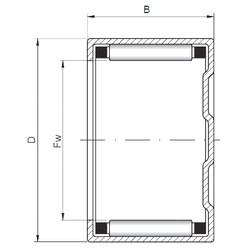 المحامل BK455514 ISO