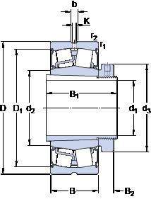 المحامل BS2-2224-2CS5K/VT143 + H 2324 EH SKF