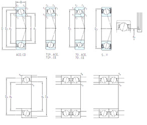 المحامل S7008 CD/HCP4A SKF