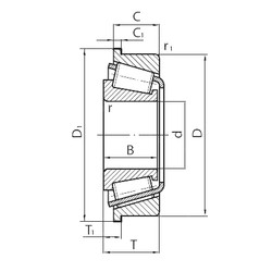 المحامل BT1-7502/QVC038 SKF