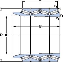 المحامل BT4B 334099/HA4 SKF