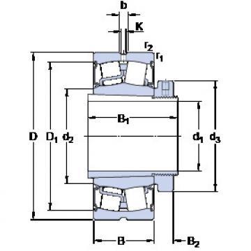 المحامل BS2-2220-2CS5K/VT143 + H 2320 E SKF