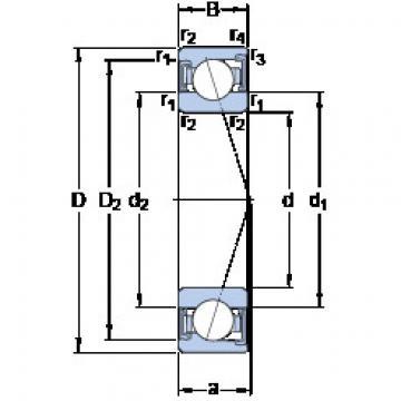 المحامل S71901 CD/P4A SKF