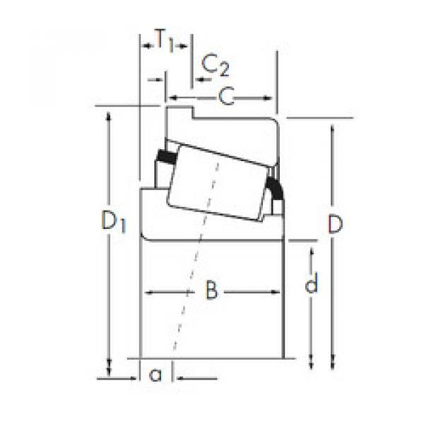المحامل A6062/A6157-B Timken #1 image